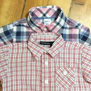 Boys Mix Brand Shirts & Tops - Boys Button Down Shirts Size 6 - 9 Months